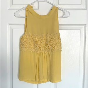 Yellow forever 21 tank top blouse